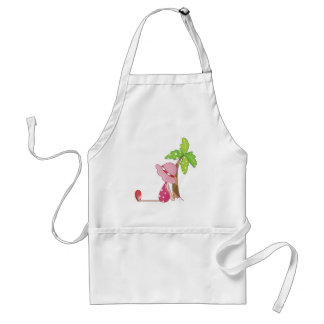 beach girl adult apron