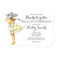 Beach Girl Bachelorette Party Invitation