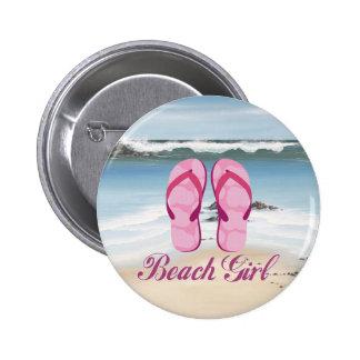 Beach Girl Buttons