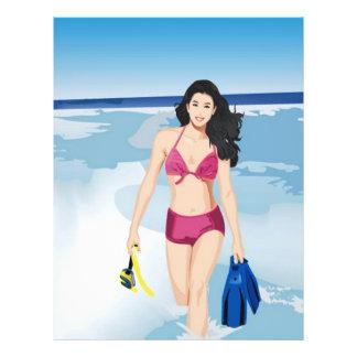 beach girl flyer