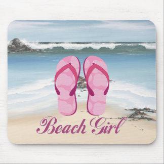 Beach Girl Mouse Pad