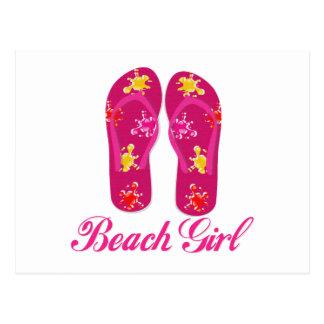 Beach Girl Postcard