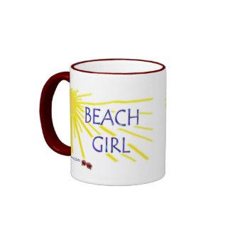Beach Girl Ringer Coffee Mug