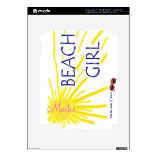 Beach Girl Sun - iPad Skin