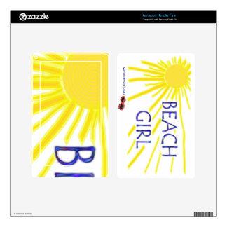 Beach Girl Sun - Kindle Fire Skin