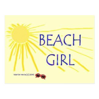 Beach Girl - Sun - Postcard