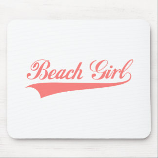 Beach girl, word art, text design for t-shirt mouse pad