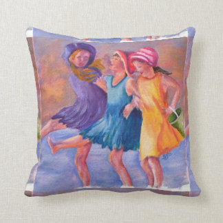 BEACH GIRLFRIENDS THROW PILLOW