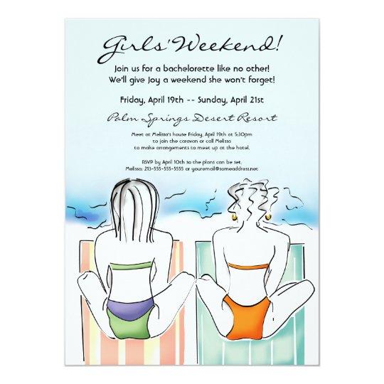 Beach Girls Summer Fun Invitation