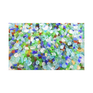 Beach Glass-1 Stretched Canvas Prints