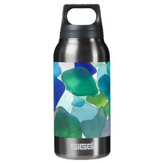 beach glass 32oz insulated water bottle