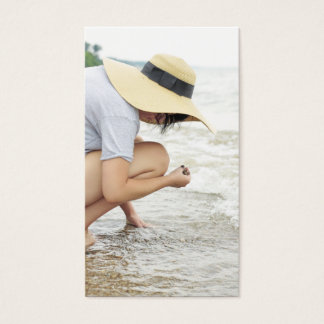 Beach Glass Hunting Business Cards