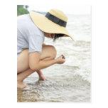 Beach Glass Hunting Postcard