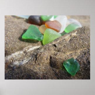 Beach Glass In Fort Bragg Poster