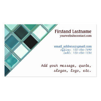 270 Glass Tile Business Cards and Glass Tile Business