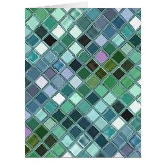 Beach Glass Mosaic Tile Art Card