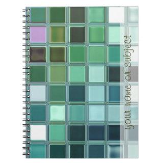 Beach Glass Mosaic Tile Art Notebook