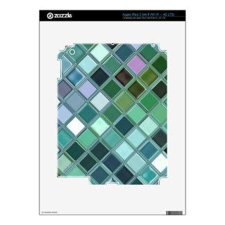 Beach Glass Mosaic Tile Art iPad 3 Skin