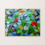 "Beach Glass Mural Jigsaw Puzzle<br><div class=""desc"">The many colors and shapes in this beach glass mural image make it a very difficult puzzle. But you wouldn&#39;t want something too easy,  would you? To see the rest of my items,  do a search for my name,  Mary Deal.</div>"