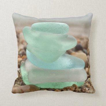 Beach Themed Beach Glass pillow