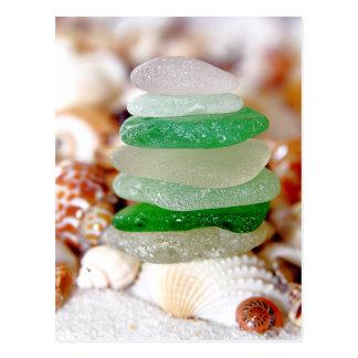 Beach Glass & Seashells Postcard