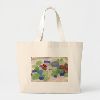 Beach Glass Tinies Large Tote Bag