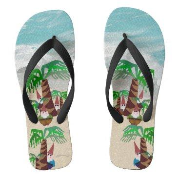 Beach Themed Beach Gnomes Flip Flops