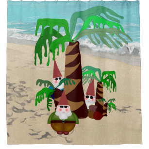 Beach Gnomes Shower Curtain