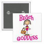 Beach Goddess Tshirts and Gifts Pinback Button