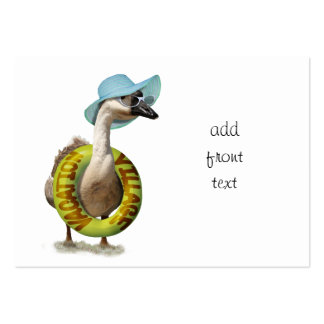 Beach Goose  with Summer Hat & Sunglasses Large Business Cards (Pack Of 100)