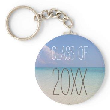 Beach Themed Beach Graduation Keychain