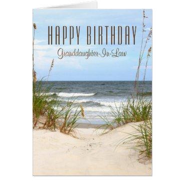 Beach Granddaughter-In-Law Birthday Card
