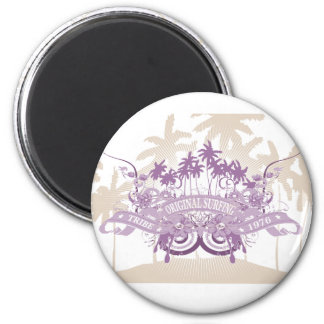 Beach Graphic T-shirts and Gifts 2 Inch Round Magnet