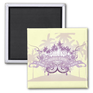 Beach Graphic T-shirts and Gifts 2 Inch Square Magnet