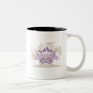 Beach Graphic T-shirts and Gifts Two-Tone Coffee Mug