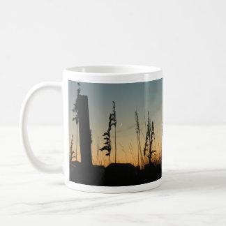 Beach Grass and Houses at Dusk Coffee Mug