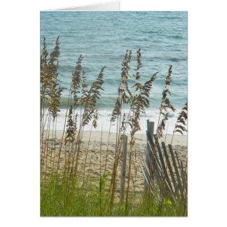Beach Grass and Ocean Waves Card