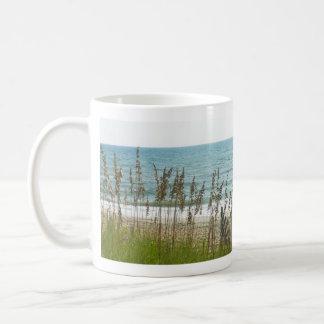Beach Grass and Ocean Waves Coffee Mug