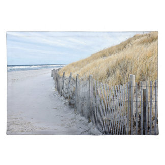 Beach grass and sand dune at the beach cloth placemat