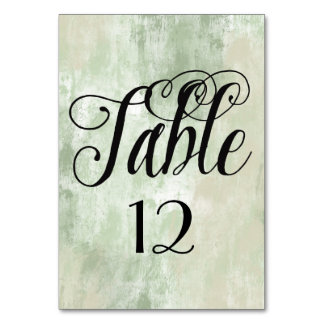 Beach Green Cream Sand abstract table number Card