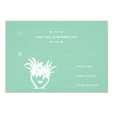 Beach Themed Beach Green Palm Tree Destination Chalkboard Card
