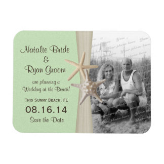 Beach Green Save the Date Photo Magnet