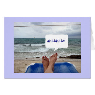 BEACH GREETINS-BEING YOUR TWIN IS SUCH FUN GREETING CARD