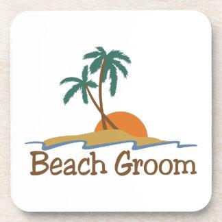 Beach Groom Drink Coaster