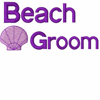 Beach Groom Embroidered Shirt