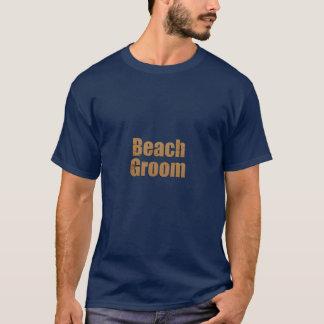 Beach Groom Sand Design T-Shirt