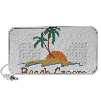 Beach Groom Laptop Speakers
