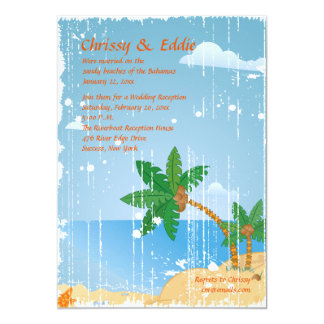 Beach Grunge Invitation