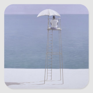 Beach guard 2004 square sticker