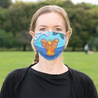 Beach Guardian Angel Art Custom Face Mask